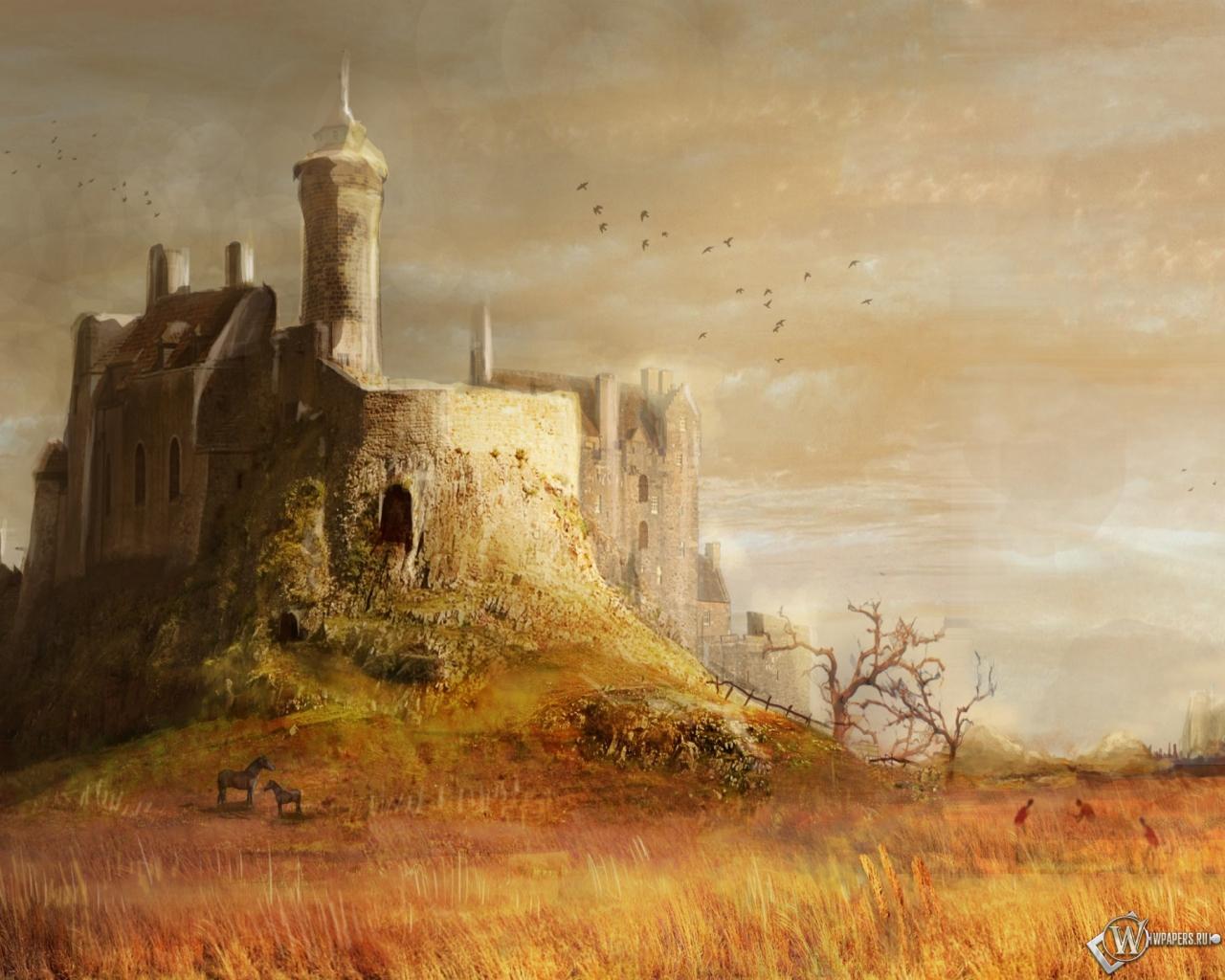 Средневековый замок 1280x1024