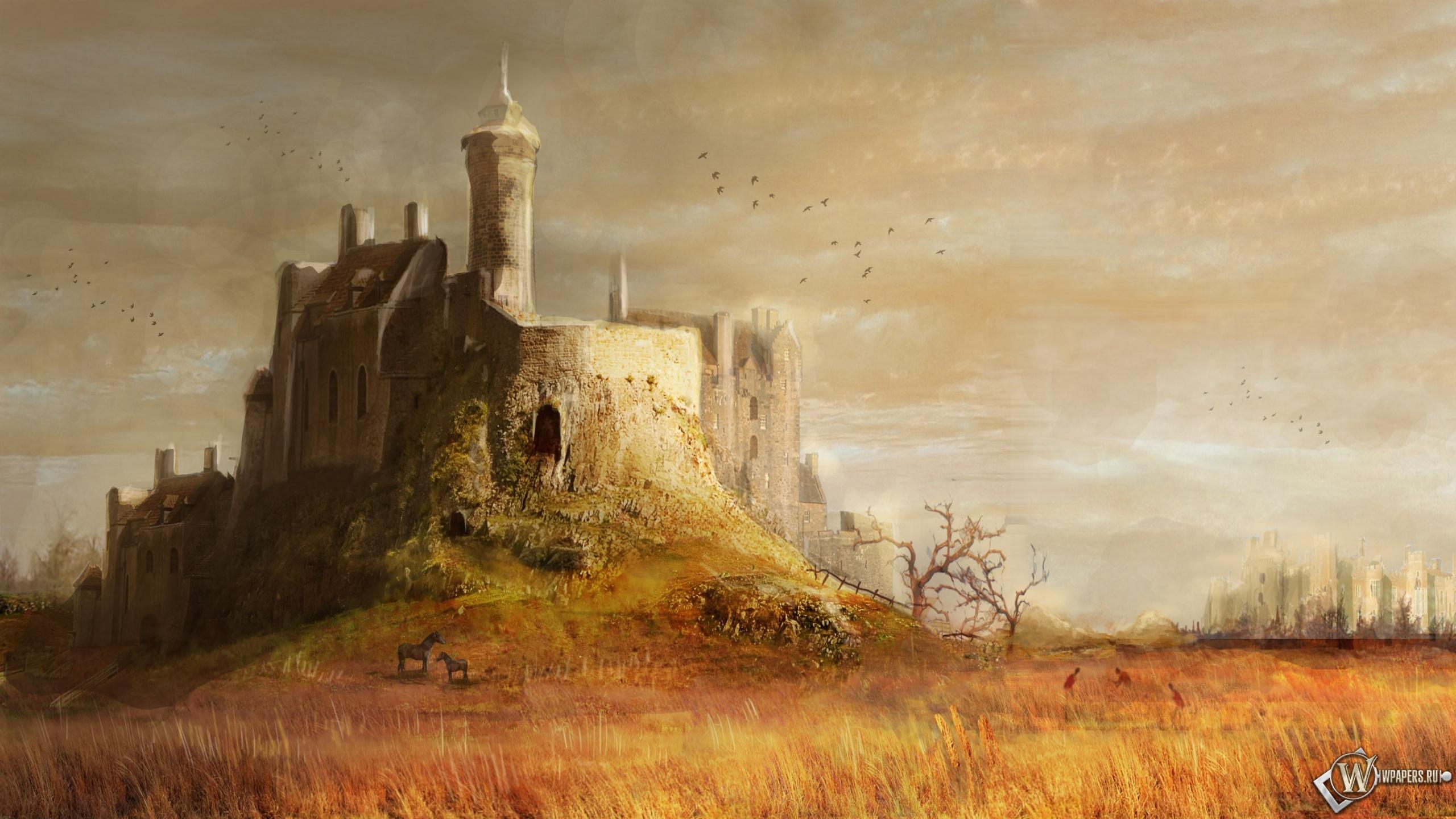 Средневековый замок 2560x1440