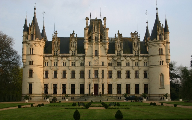 Castle Chateau Challain the Chambord of Anjou Франция