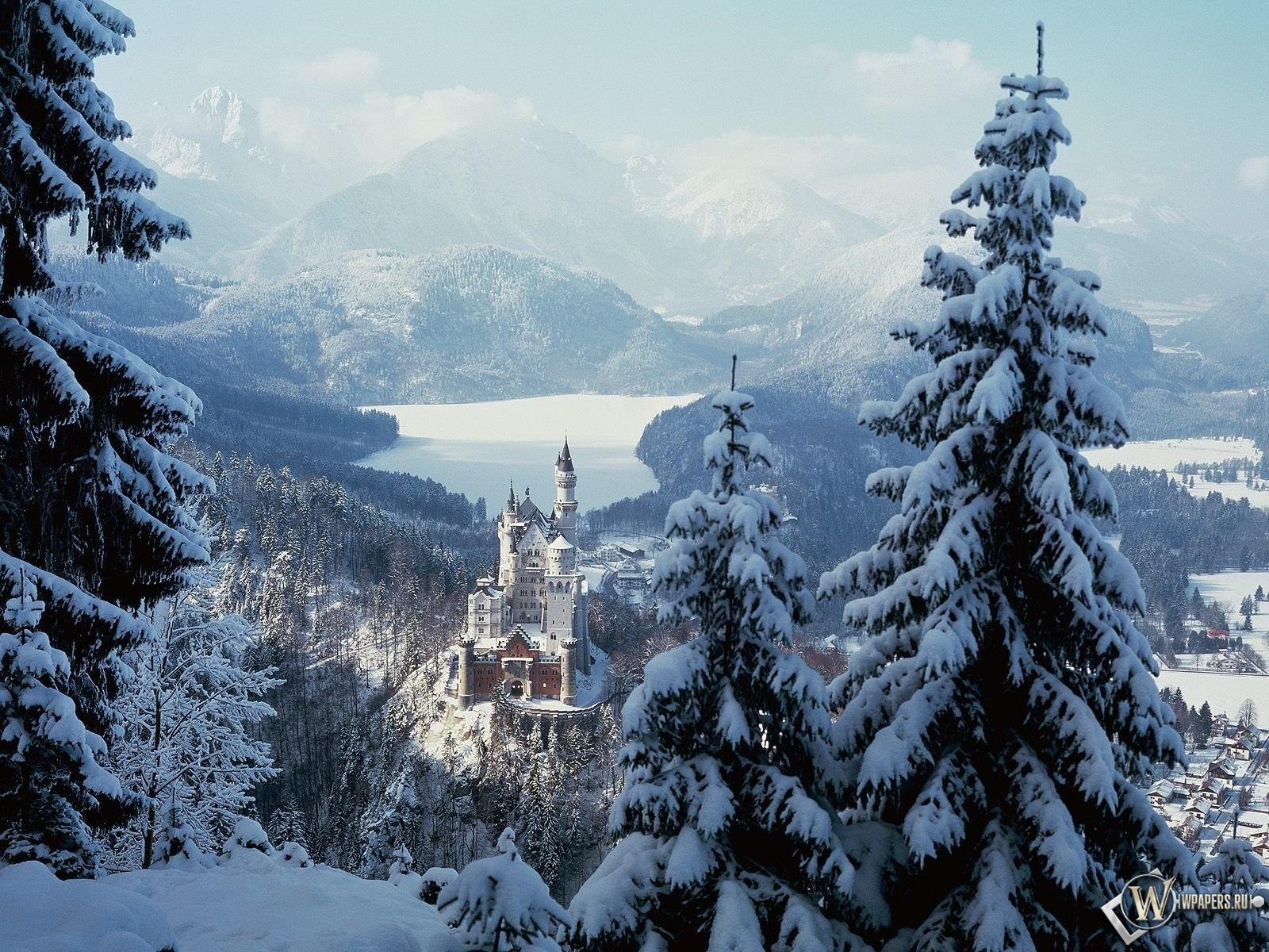 Замок Нойшванштайн Бавария 1600x1200