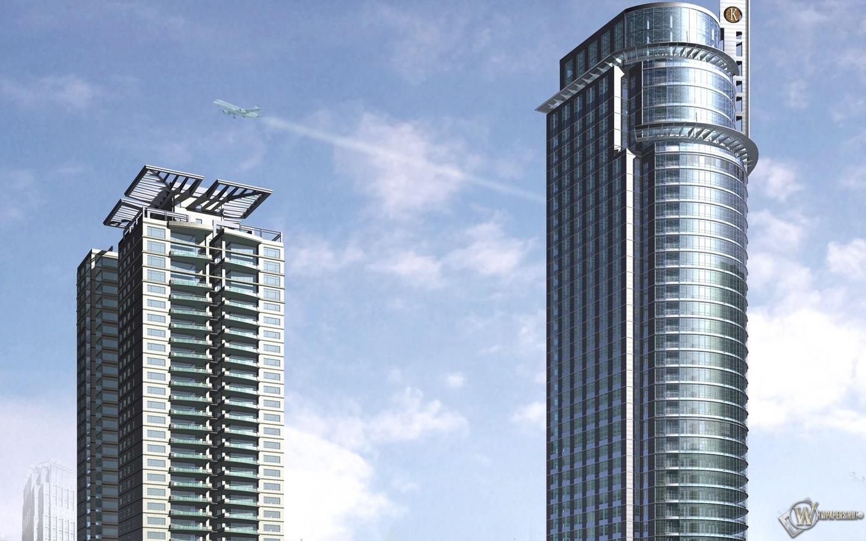Два небоскреба 1440x900