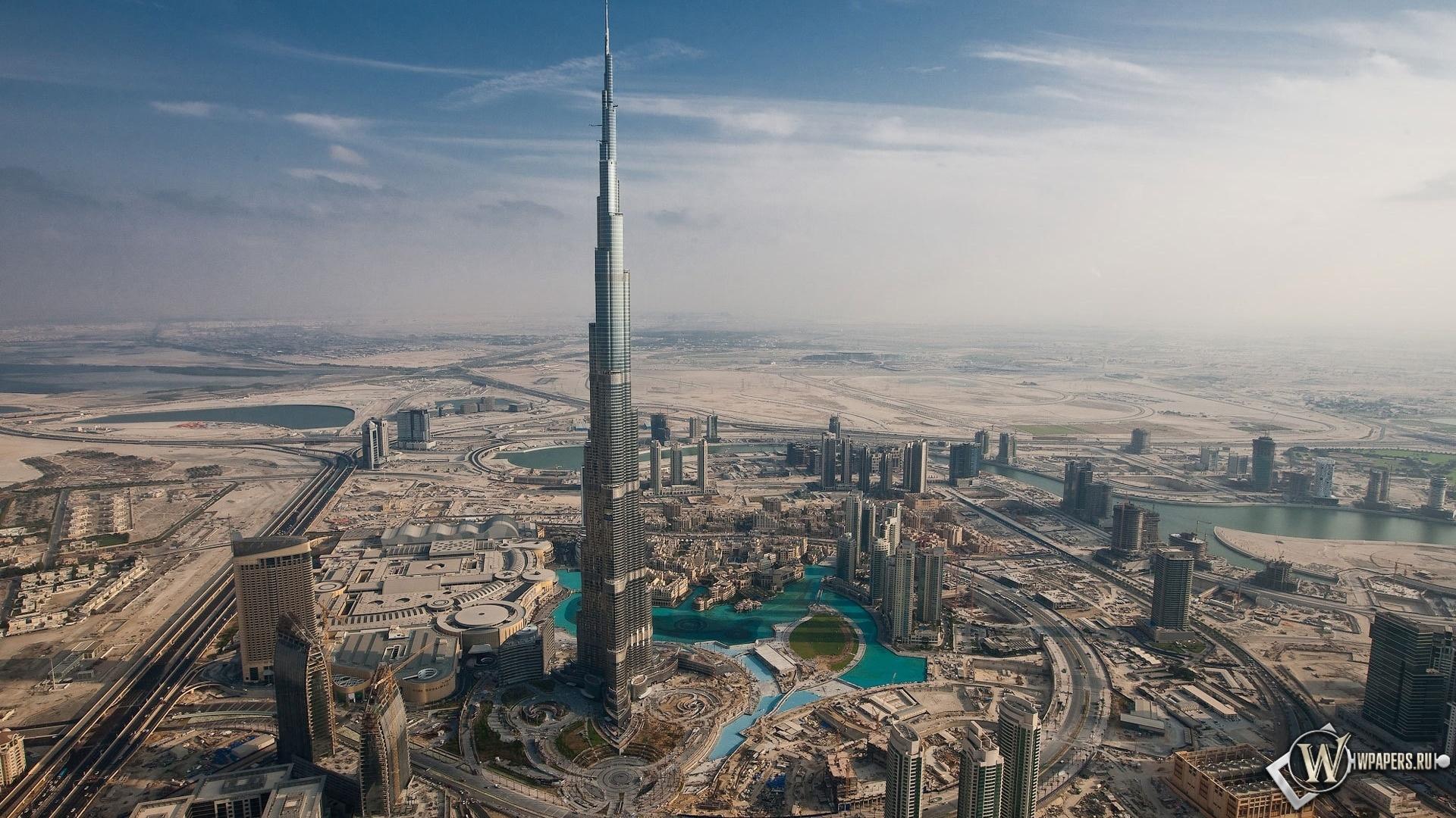 Небоскреб Burge Dubai 1920x1080
