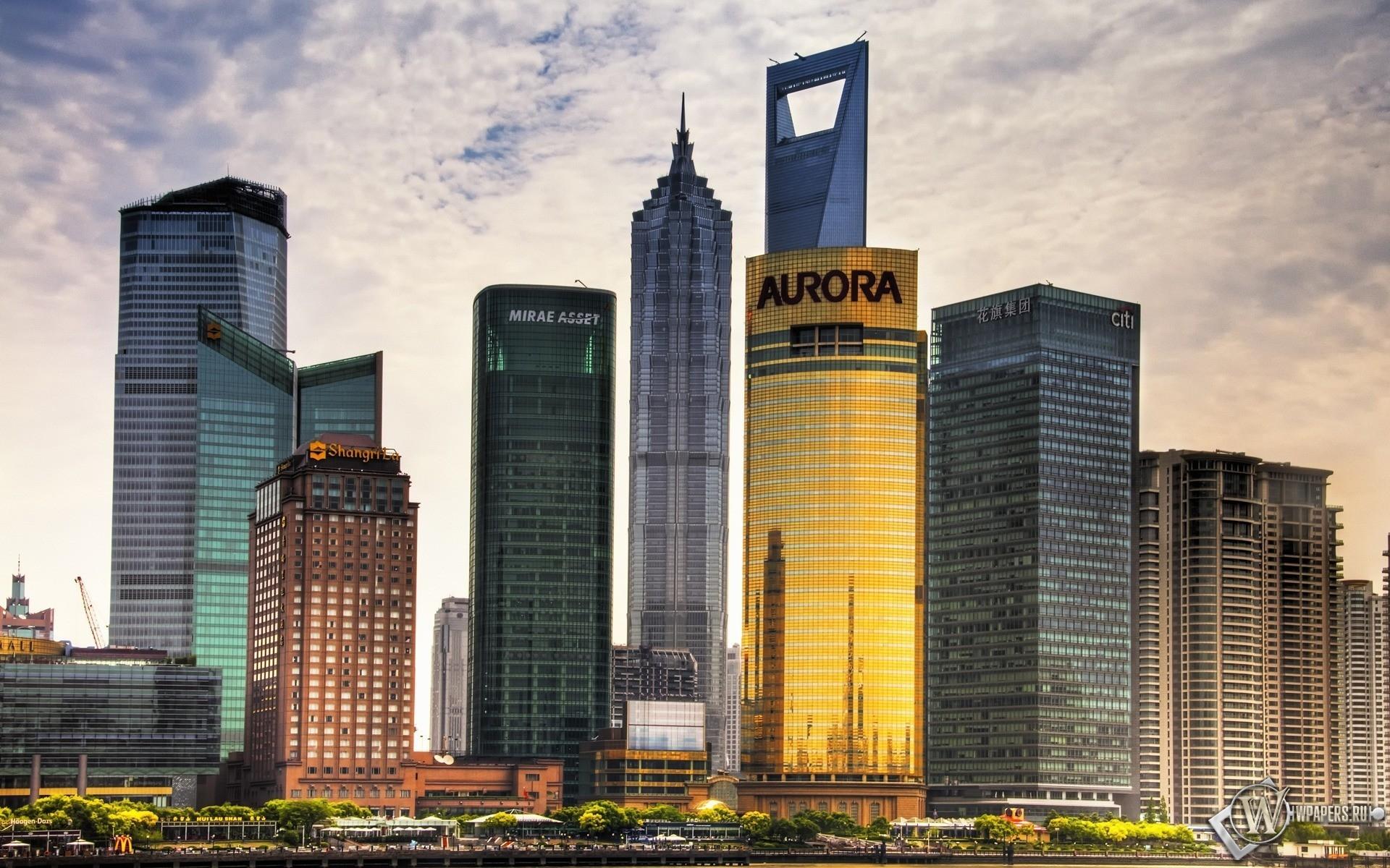 Небокребы Шанхая 1920x1200