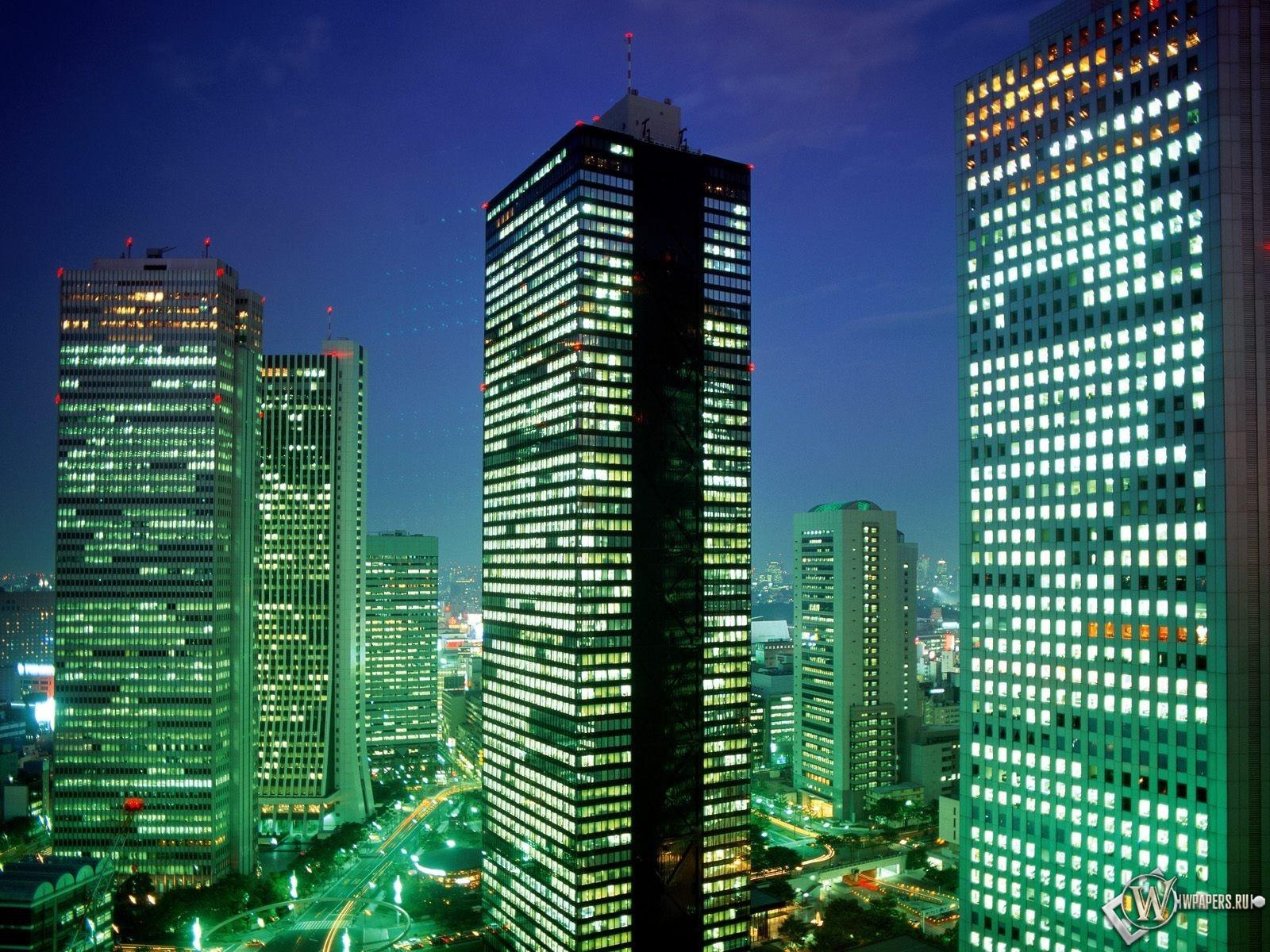 Небоскрёбы в Токио 1600x1200