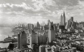 Обои Манхэттен, Нью-Йорк: Город, Небоскрёбы, Здания, Нью-Йорк, Города