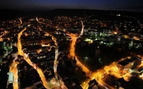 Обои City at night: Огни, Город, Ночь, Города