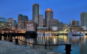 Обои Бостон: Причал, Цепь, суда, Города