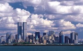 Обои Манхэттен: Город, Море, Небоскрёбы, США, манхэттен, Города