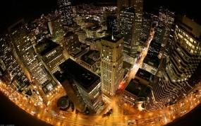 Обои Нью-Йорк ночью: Огни, Город, Ночь, Нью-Йорк, Города