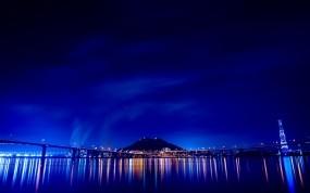 Обои Ночной мост: Огни, Мост, Ночь, Города