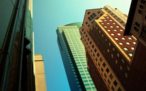 Обои Небоскрёбы: Город, Дом, Улица, Небоскрёб, Города