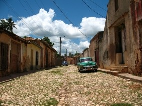 Обои Куба Тринидад: Облака, Машина, Город, Улица, Города