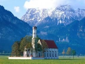 Обои Церковь в Баварии Германия: Церковь, Германия, Бавария, Города