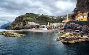 Обои Побережье Португалии: Океан, Небо, Португалия, Города