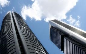 Обои Серые небоскрёбы: Небо, Здания, Небоскрёб, Города