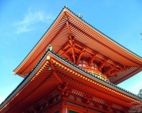 Обои Японская крыша: Небо, Япония, Крыша, Города