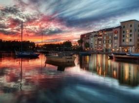Обои Венеция: Вода, Город, Лодки, Небо, Дома, Города