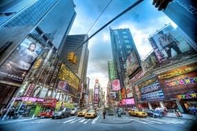 Обои Нью-Йорк: Город, Нью-Йорк, Люди, Машины, Города