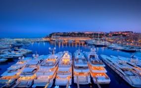 Обои Яхты в Монако: Порт, Монако, Яхты, Города