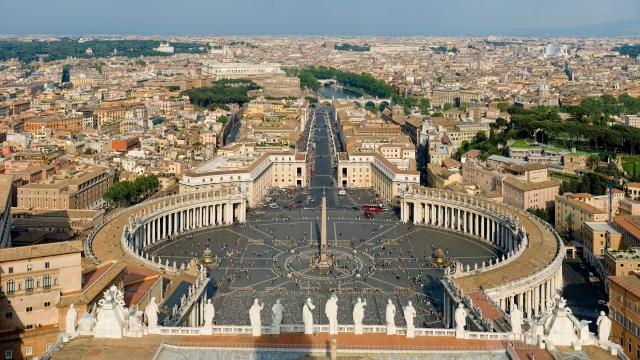 Площадь Святого Петра Ватикан