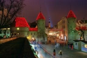Обои Ночной Таллин: Город, Ночь, Дома, Города