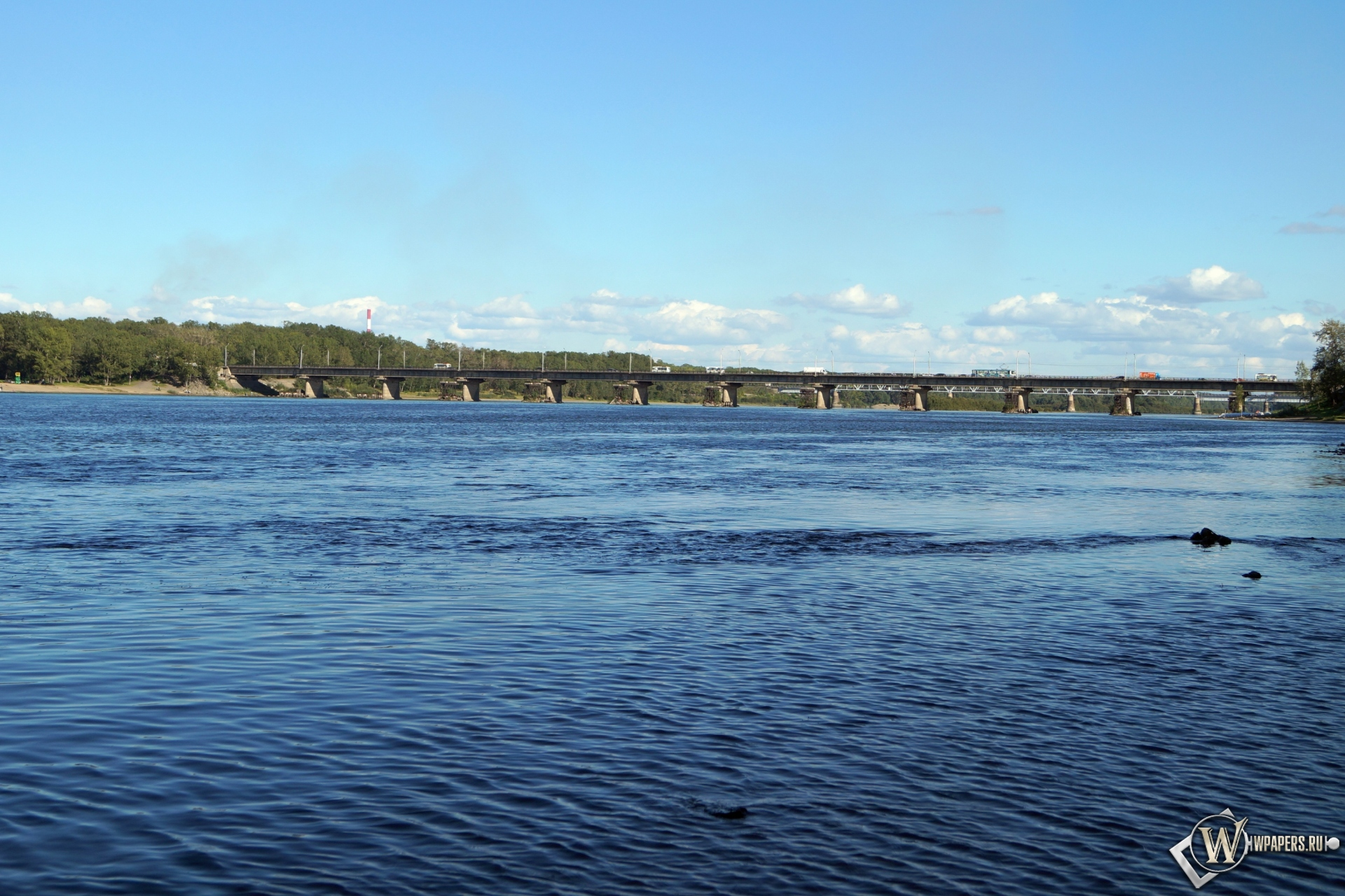Новокузнецк река Томь 1920x1280