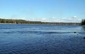 Обои Новокузнецк река Томь: Река, Город, Города