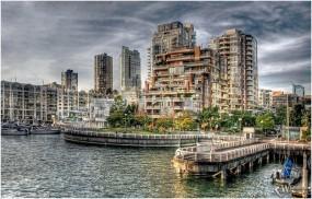 Обои Прибрежный город : , Города