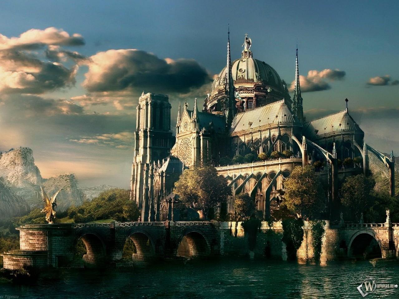 3D Город средневековья 1280x960