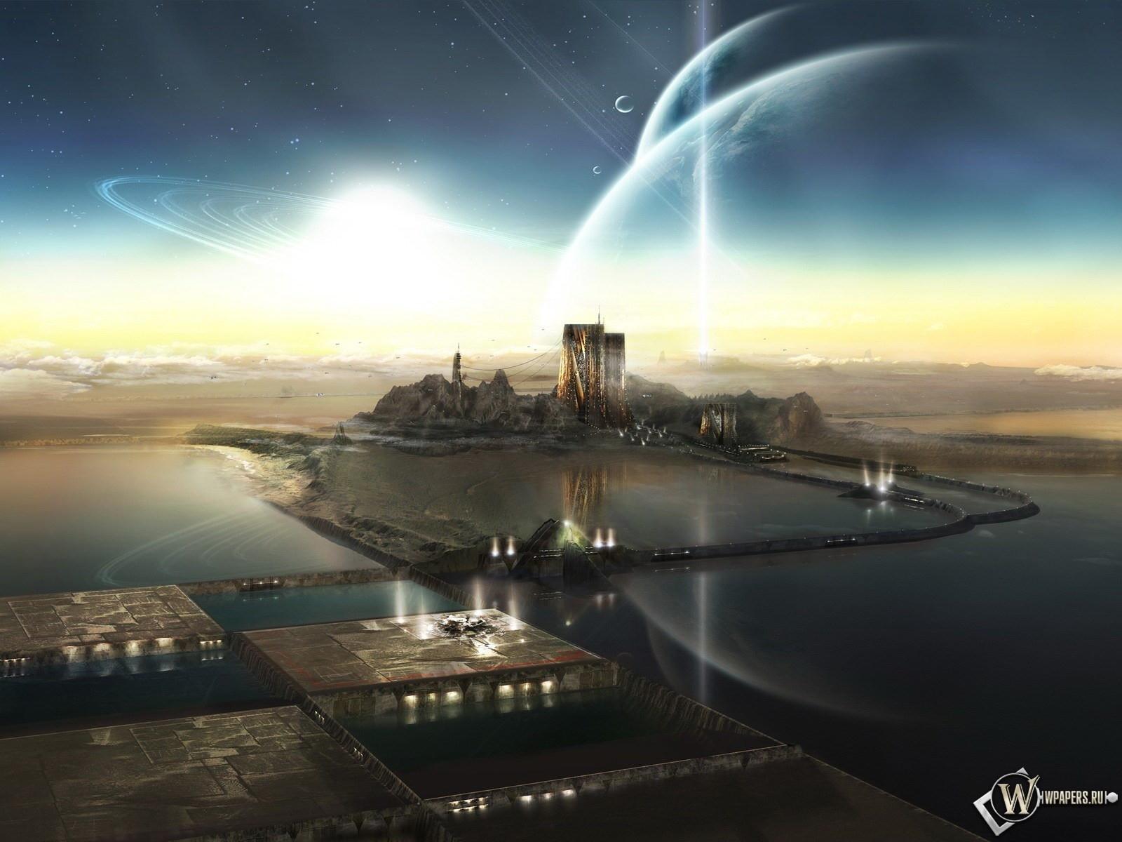 Неземной город 1600x1200