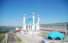 Обои Казань мечеть: Мечеть в Казани, Река, Религия, Казань