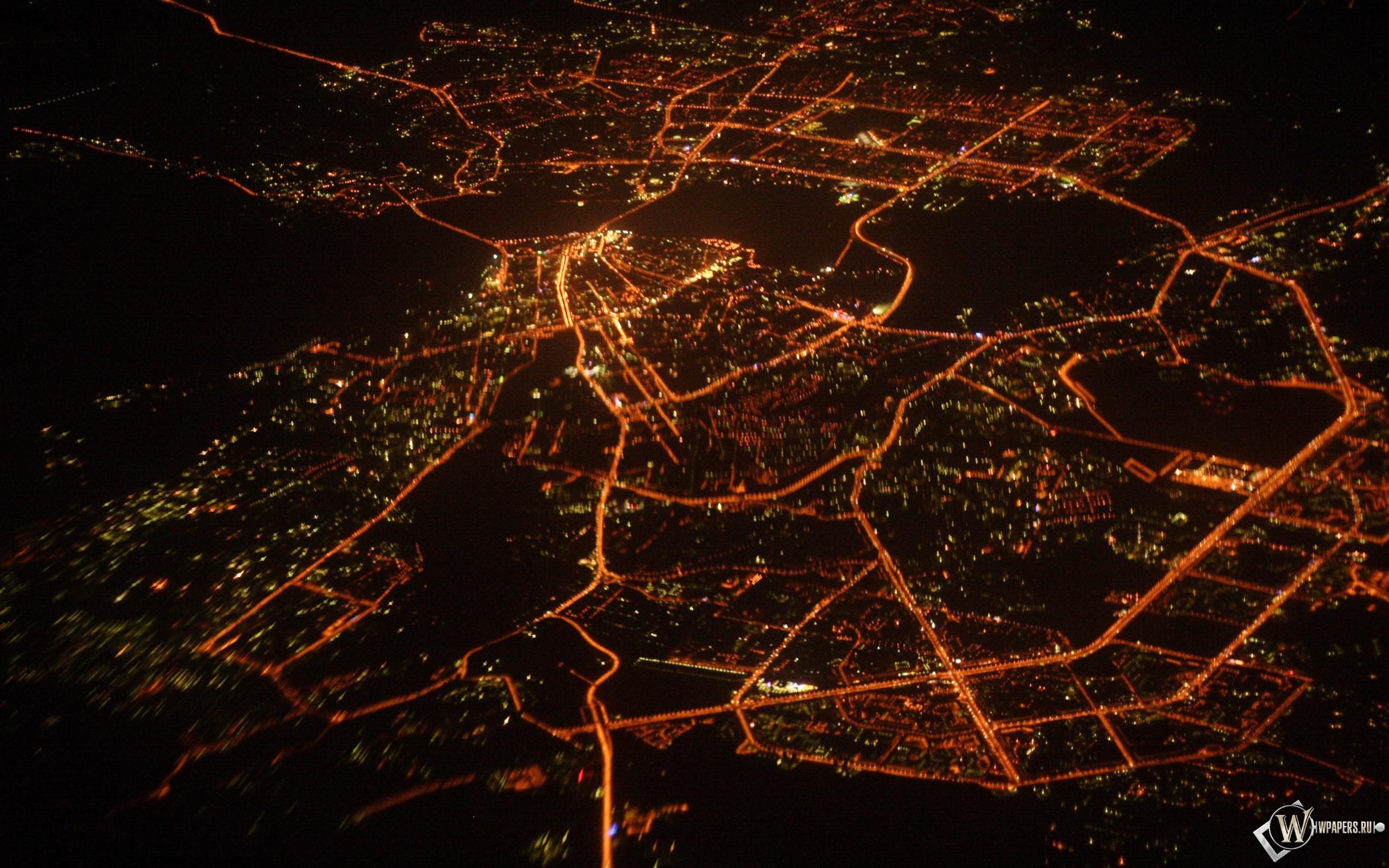 Ночная казань (вид сверху) 2560x1600