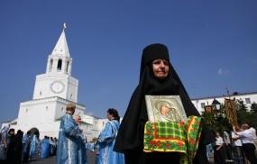 Обои Икона Казанской Божьей Матери: Казань, Кремль, Икона, Казань