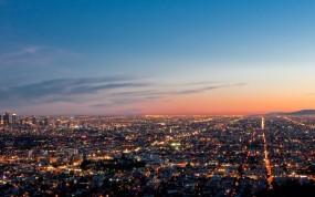 Обои Los Angeles: Огни, Панорама, Лос-Анджелес, LA, Los Angeles, Los Angeles