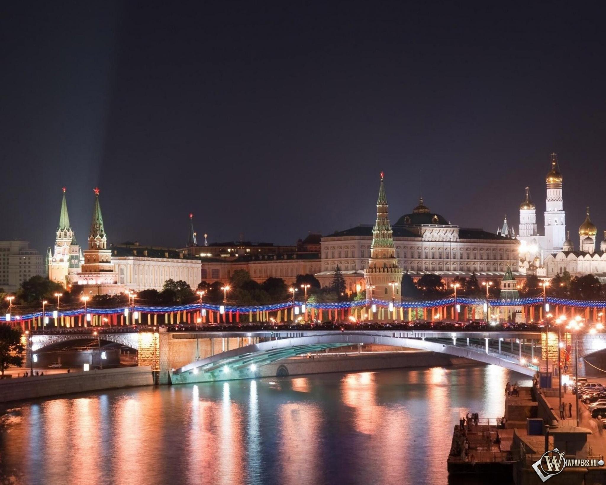Московский кремль в Новый Год 2048x1638