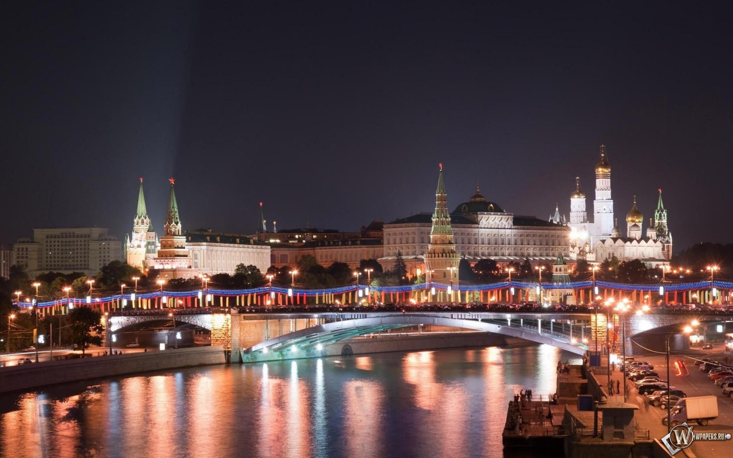 Московский кремль в Новый Год 2560x1600
