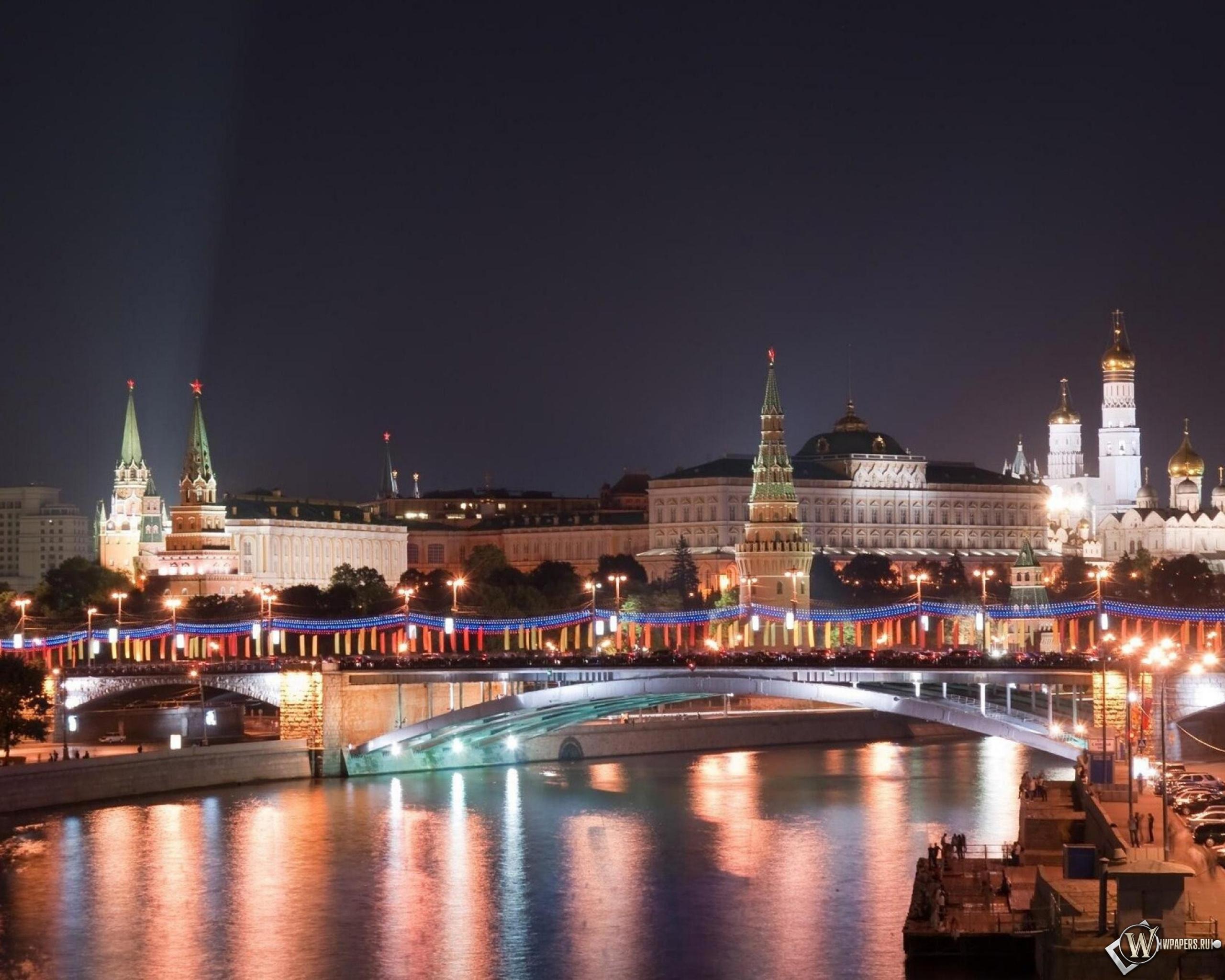 Московский кремль в Новый Год 2560x2048