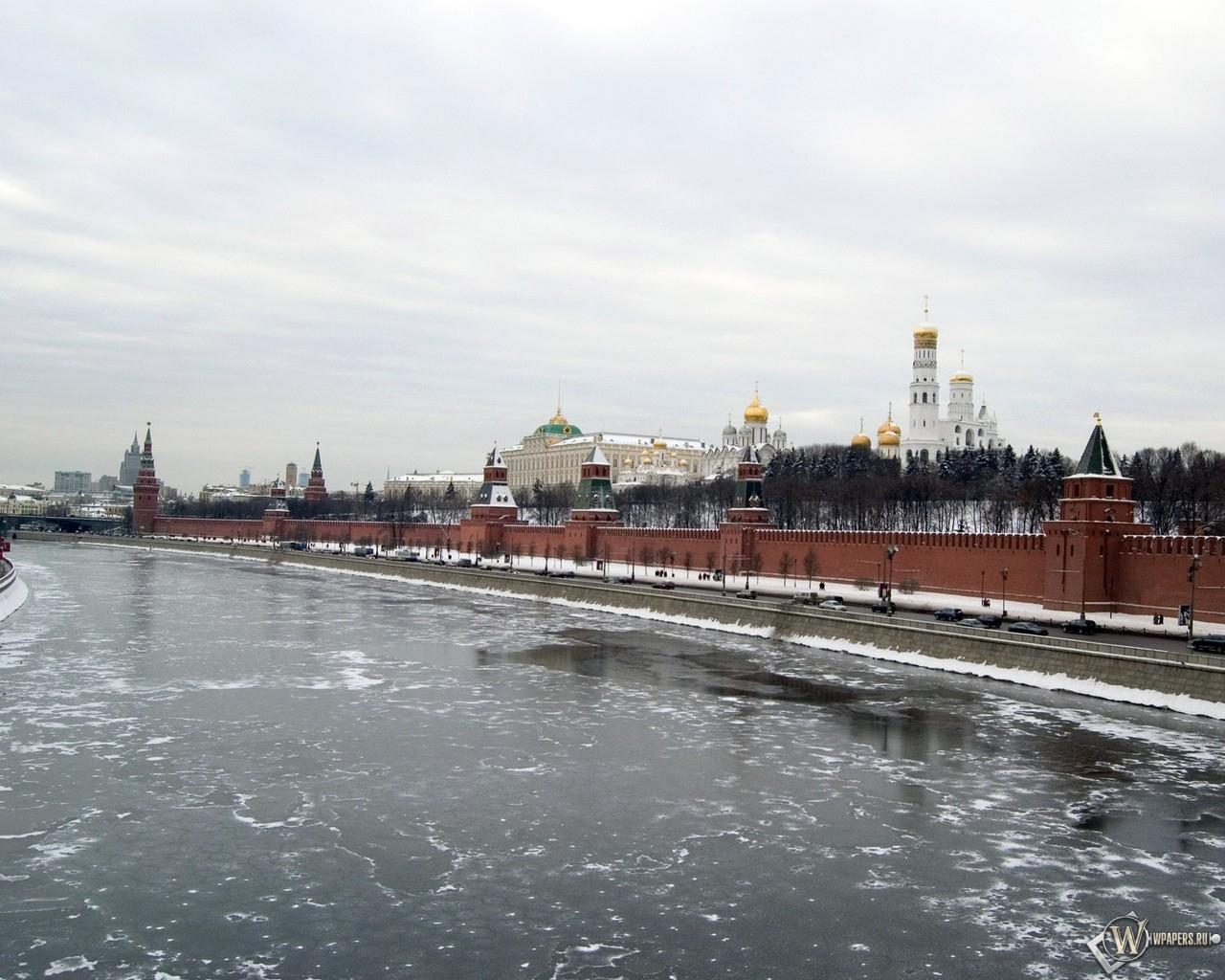 Вид на кремль (Москва) 1280x1024