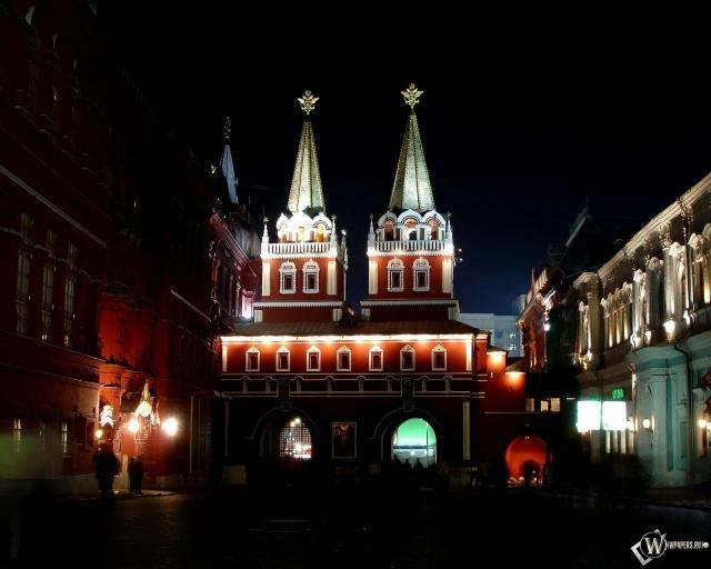 Москва Ночь на Красной площади