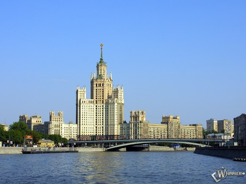 Москва Мост через Москву-реку 1024x768