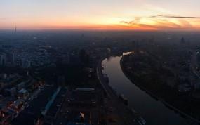Обои Москва река: Панорама, Москва, Москва река, Утро, Москва