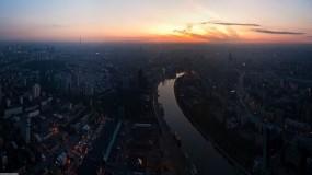 Обои Москва река: Река, Небо, Дома, Панорама, Москва, Утро, Москва