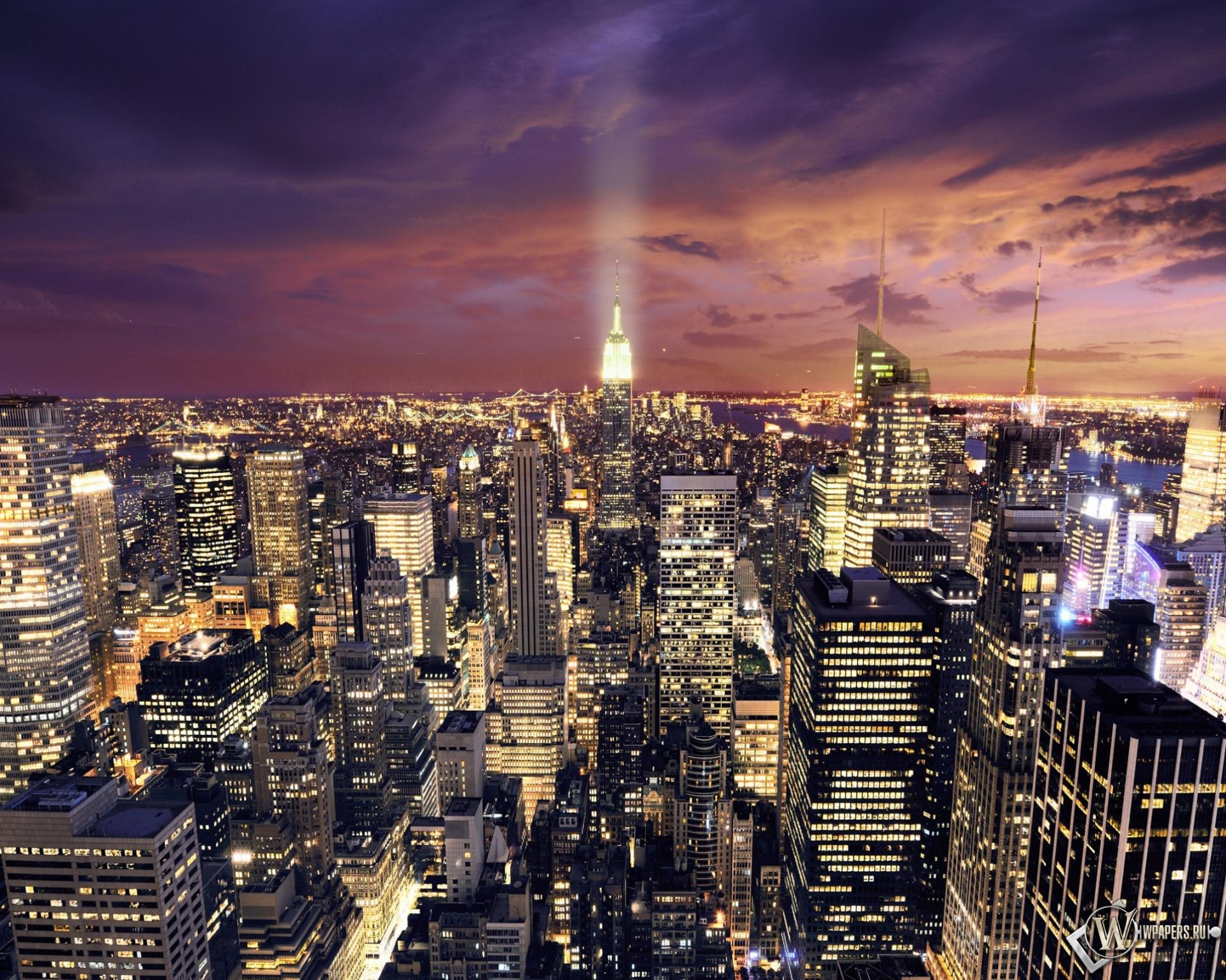 Ночной Нью-Йорк 1920x1536