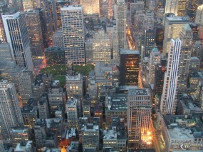 Обои New York city lights: , New York