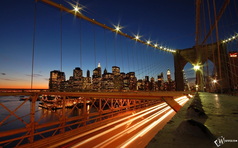 New York Brooklyn Bridge Skyline 1440x900