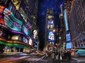 Обои Advertising NY - Times Sqare: , New York
