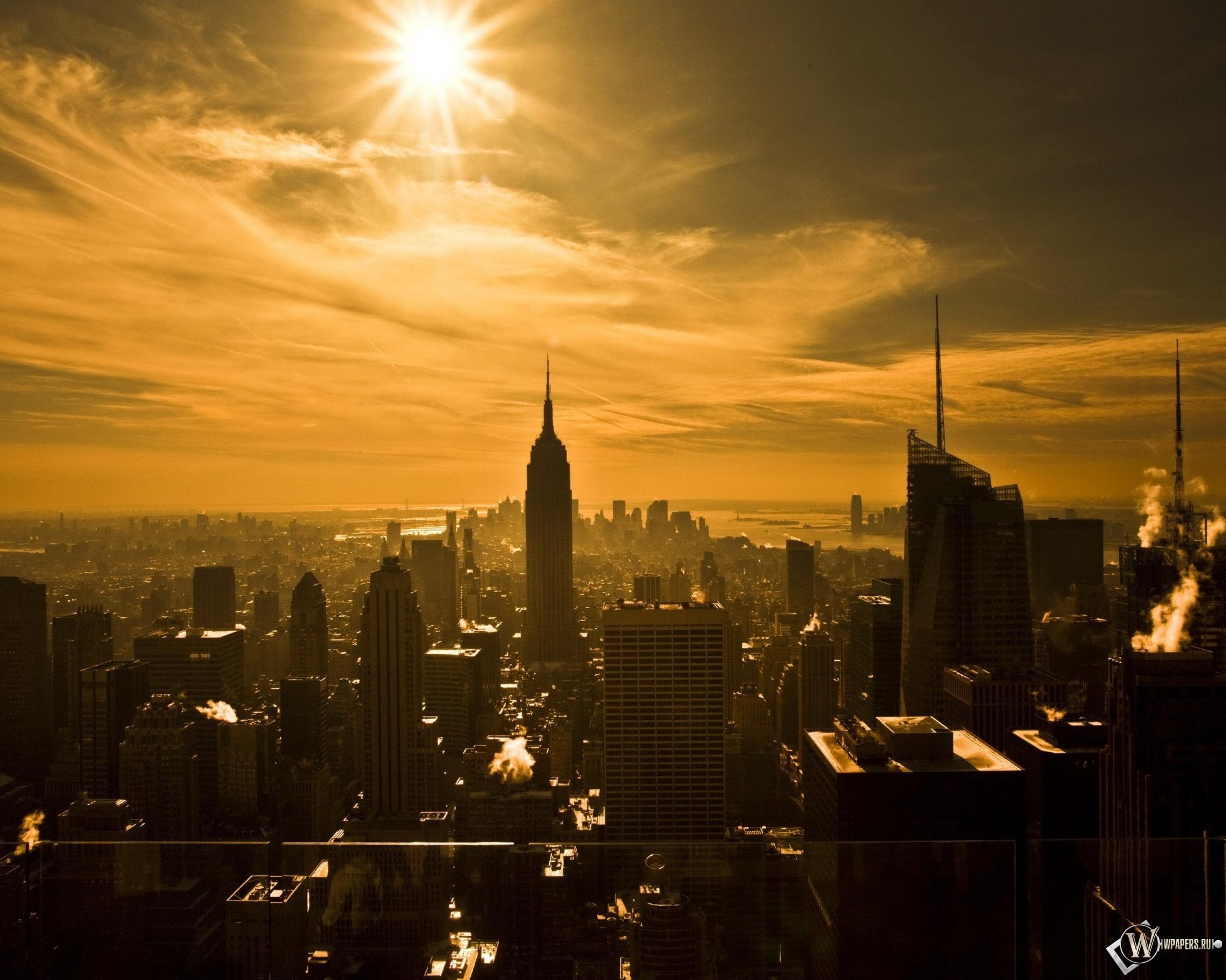 Восход над Нью-йорком 2560x2048