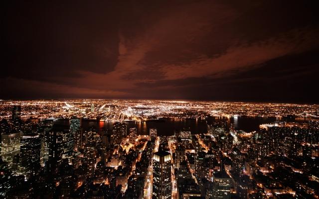 New York в ночи