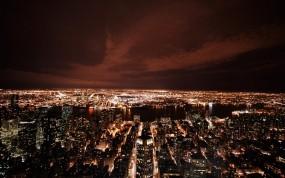Обои New York в ночи: Город, Ночь, Нью-Йорк, New York
