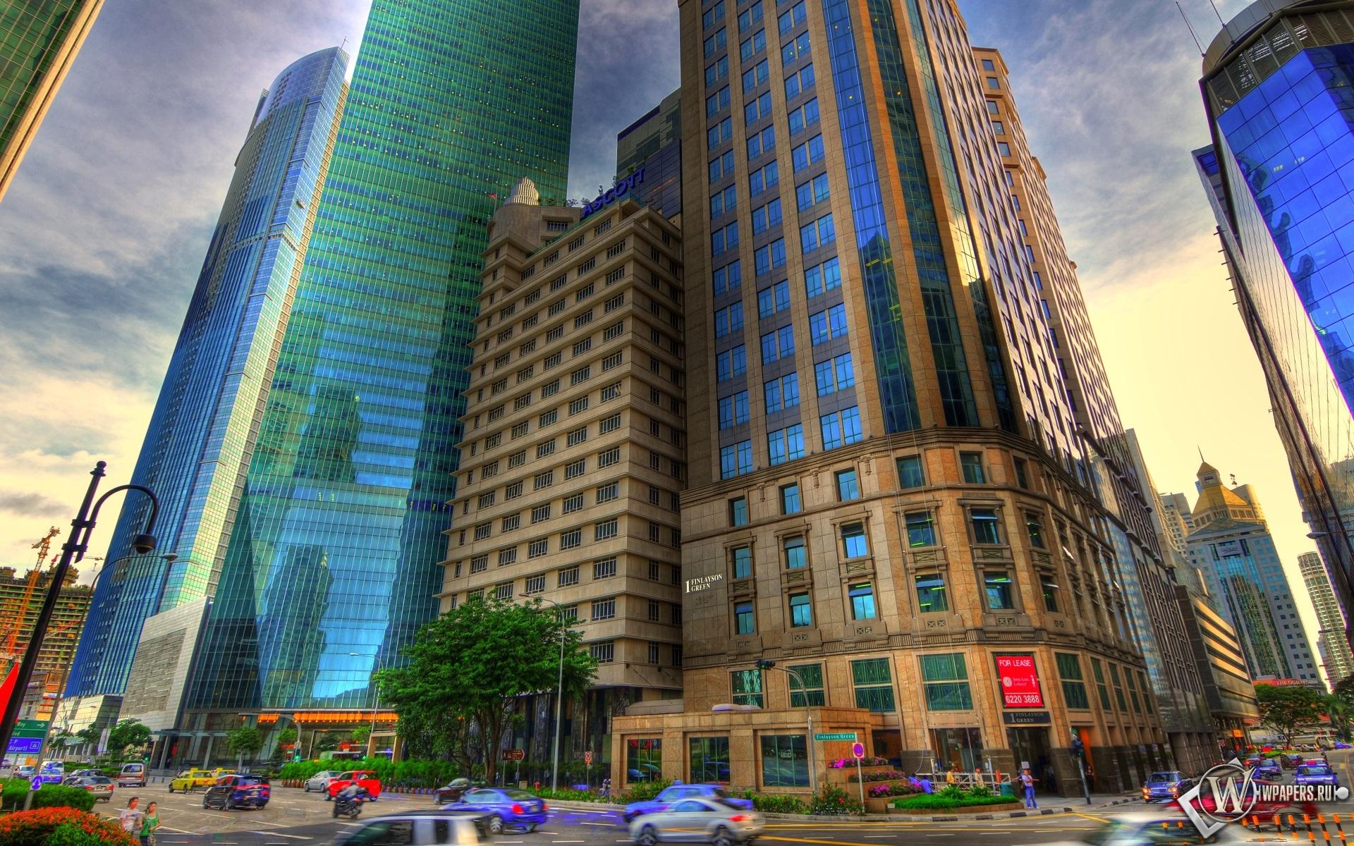 Красивое HDR фото города 1920x1200